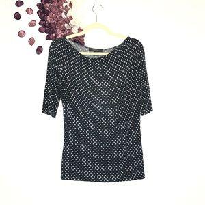 MaxMara Weekend Abstract Polka Dot Print Knit Tee